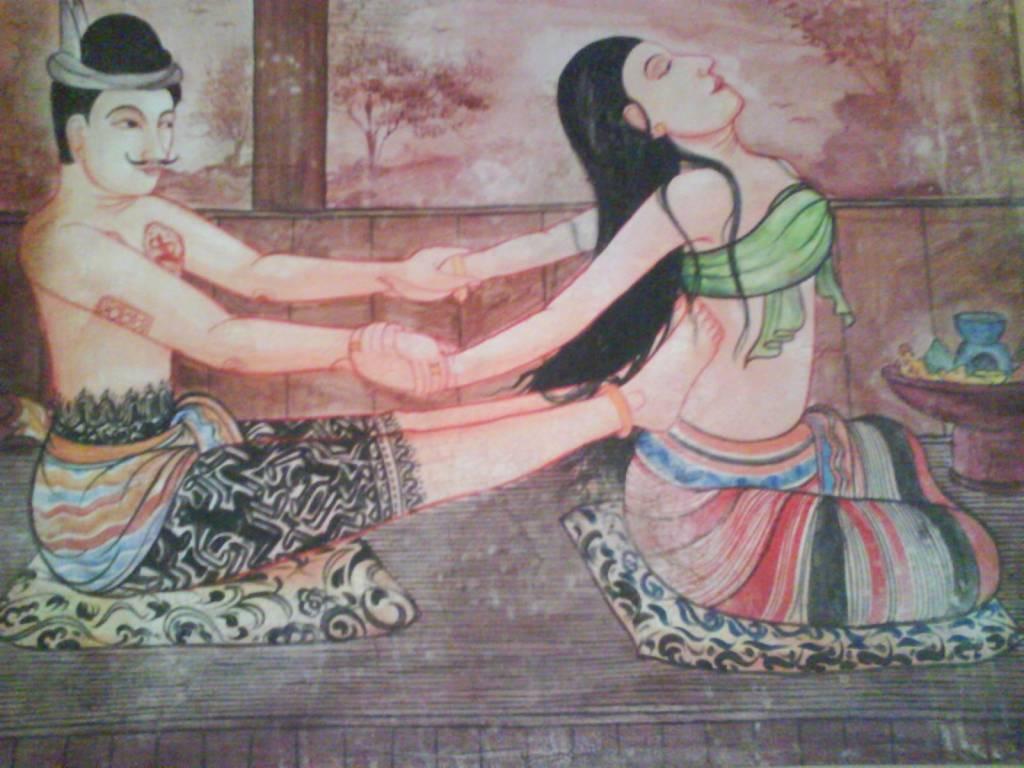 Thai Massage Tradiotionnel : pratiqué habillé, sur futon au sol